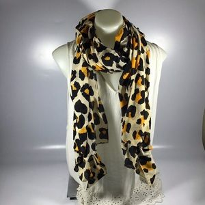 Cheetah leopard print wide multi-purpose scarf